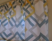 SALE  Window Curtain Valance Premier Prints Winston Saffron 52 X15
