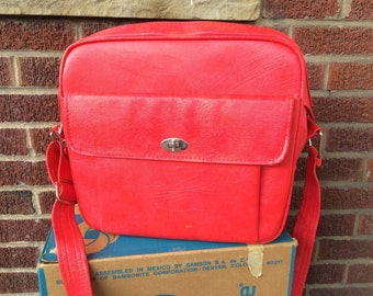 Vintage Child S Suitcase Going To Grandma S Red By