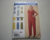 Pattern Women Plus Size Tops Shorts Pants Sizes 18W to 24W Simplicity  1446