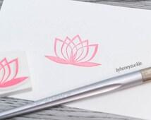 lotus rubber stamp, yoga stamp, zen rubber stamp, flower stamp, lotus flower stamp, from the nature, blooming flower, handmade stamp