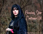 Evening Star Perfume Oil:  Night Blooming Jasmine, Lily of the Valley, Ferns, Moss, Musk, inspired by Arwen, Lord of the Rings.