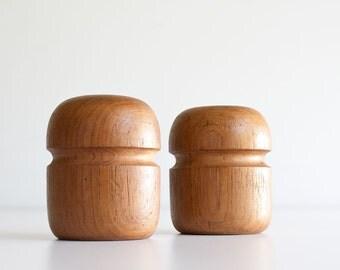 Vintage Danish Modern Teak Salt & Pepper Shakers