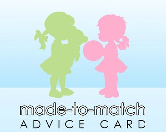 Made-to-Match Advice Card . Digital File - to coordinate with SSC Card Design