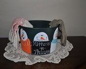 Christmas Holiday Winter Minttens Bucket
