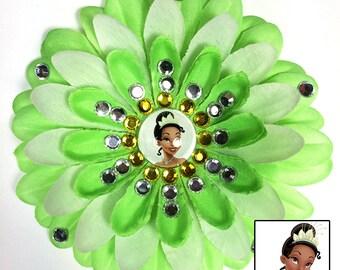 Princess Tiana Penny Blossom Sparkly Rhinestone Flower Barrette