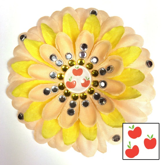 Applejack Penny Blossom Sparkly Rhinestone Flower Barrette