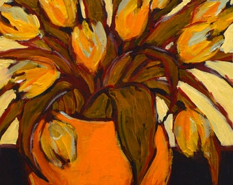 Orange Tulip Giclee -fine art print - print