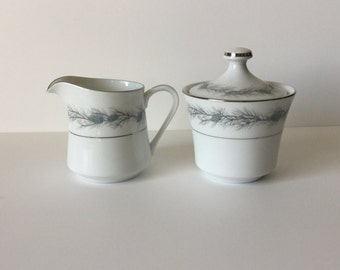Vintage Style House Fine China Duchess Pattern Creamer and Sugar Made in Japan