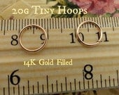 Tiny Gold Filled 20g Endless Hoops