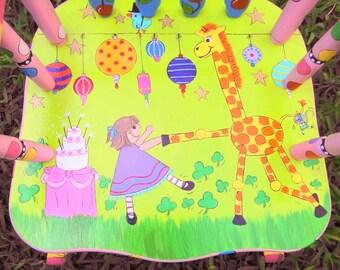Personalized Rocking Chair for Kids, Personalized Kid's Rocker, Giraffe Rocker, Little Girl Rocker, Personalized Childs Rocker, Rocker