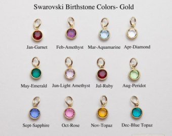 Add on Swarovski Charm - Gold Plated