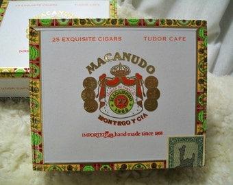 Cigar Box for crafting, purses, supplies  - MACANUDO - Tudor Cafe - Empty Box
