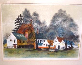 Jeremy King, Landscape Art, Watercolor Landscape Painting, Landscape Print, Country Landscapes House & Barn.