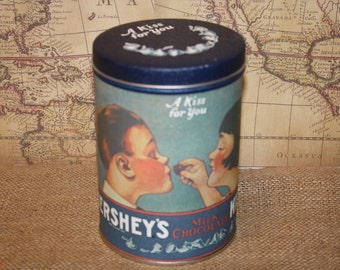 Vintage 1980 Hershey Kisses Tin - item #1008