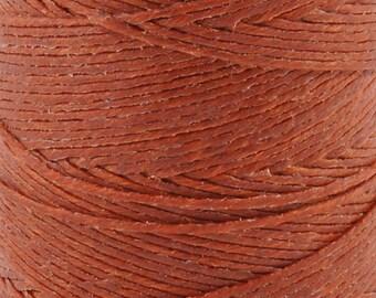 Tools & Supplies-3-Ply Irish Linen Cord-Waxed-Dark Rust-Crawford Threads-Quantity 10 Yards