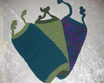 Crocheted Bagholders - various colors