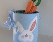 Easter Bunny on Paint Can  - Easter Decoration - Easter Basket Can