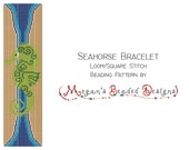 Seahorse Loom Bracelet Beading Pattern for Loom or Square Stitch