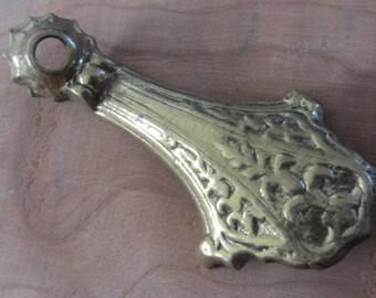Vintage Chandelier Arm - Cast Brass - Pan Arm - Steampunk Supply - Assemblage - Vintage Lamp Part