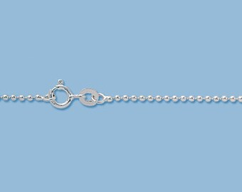 16 Inches - Sterling Silver Ball Chain Chain