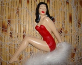 Dee-Dee Von Tease Retro Reinterpreted Elaine Studios Pin Up Girl Wall Plaque