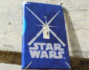 Star Wars Light Sabers Glow in the Dark Light Switch Cover