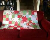 Modern Christmas patchwork quilt