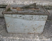 gray ammo box toolbox machinist tool box industrial storage industrial decor rustic man cave gift idea
