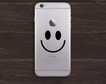 Smiley Face Vinyl iPhone Decal BAS-0205