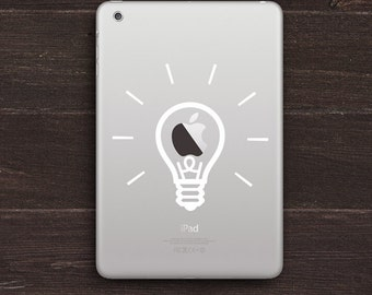 Lightbulb Vinyl iPad Decal BAS-0220