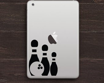 Bowling Vinyl iPad Decal BAS-0255