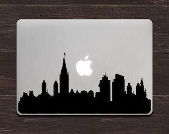 Amsterdam Skyline Silhouette Vinyl MacBook Decal BAS-0323