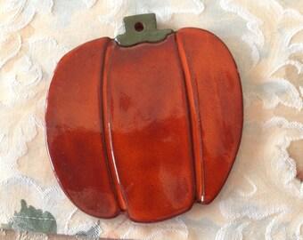 Ceramic Pumpkin Tile/Trivet/ Spoonrest