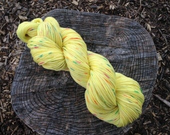 Birthday Cake Full Grown Sock 75/25% Superwash Merino Nylon Blend Hand Dyed Sock Yarn 100gr