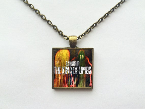 Radiohead - The King of Limbs Album Cover Necklace OR Keychain