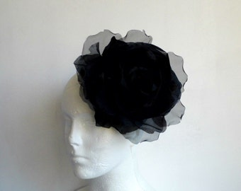 Large Rose - Black