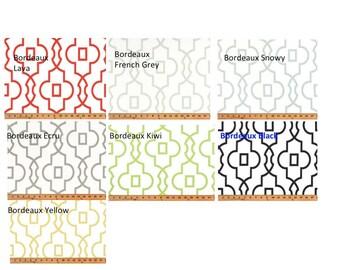 CUSTOM CURTAINS - One Pair of Bordeaux drapery panels