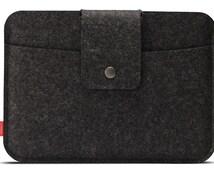 iPad AIR 2 case, cover, sleeve 100% real Merino wool felt Lleyn