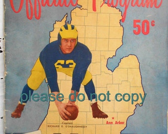 ORIGINAL 1953 Ohio State Buckeyes and Michigan Wolverines Football Program OSU Woody Hayes