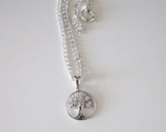 Tree Of Life, Sterling Silver Necklace, Symbolic Jewelry, Silver jewelry, Gift