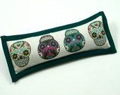 Day of the Dead Catnip Toy, Dia de los Muertos, Sugar Skull Cat Toy, Sugar Skull Catnip Toy, Juguetes Para Gatos, SUGAR SKULLS ~ Dark Green