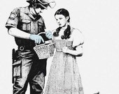 Banksy Poster Print - Dorothy Searched  - Multiple Paper Sizes