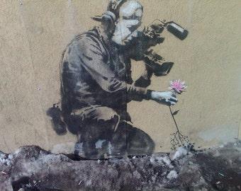 Banksy Print  - The Last Flower  - Multiple Paper Sizes