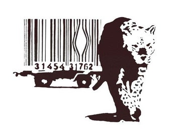 Banksy Canvas (READY TO HANG) - Cheetah Black - Multiple Canvas Sizes