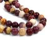 8mm Moukaite Jasper beads, round natural gemstone,  FULL & HALF strands available  (623S)