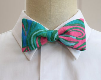 Lilly Bow Tie in  Lilly lounge multi (self-tie)