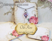 24-OLD ROSE Necklace and earring Cards, Jewelry cards,Necklace Card, Display, Earring Holder, Necklace Holder