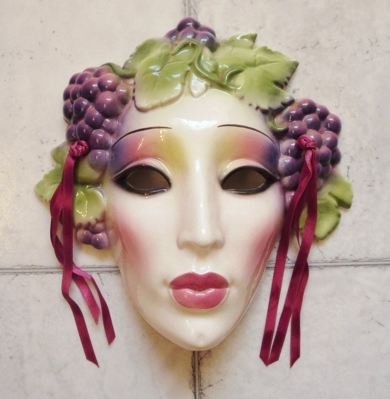 Decorative Wall Face Masks : Clay art ceramic face wall mask decorative by sveltegypsy
