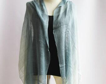 SC2, V Triple Grey Cotton Scarf