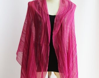 SC1, V Northern Tribe Bright Pink Cotton Scarf